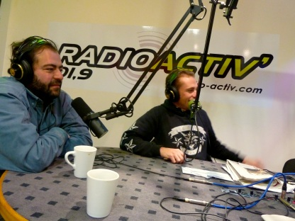Tarek à la radio de Saint-Brieuc