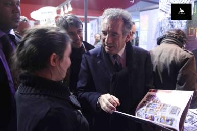 François Bayrou et Rebecca Jover qui lui présente Turcos