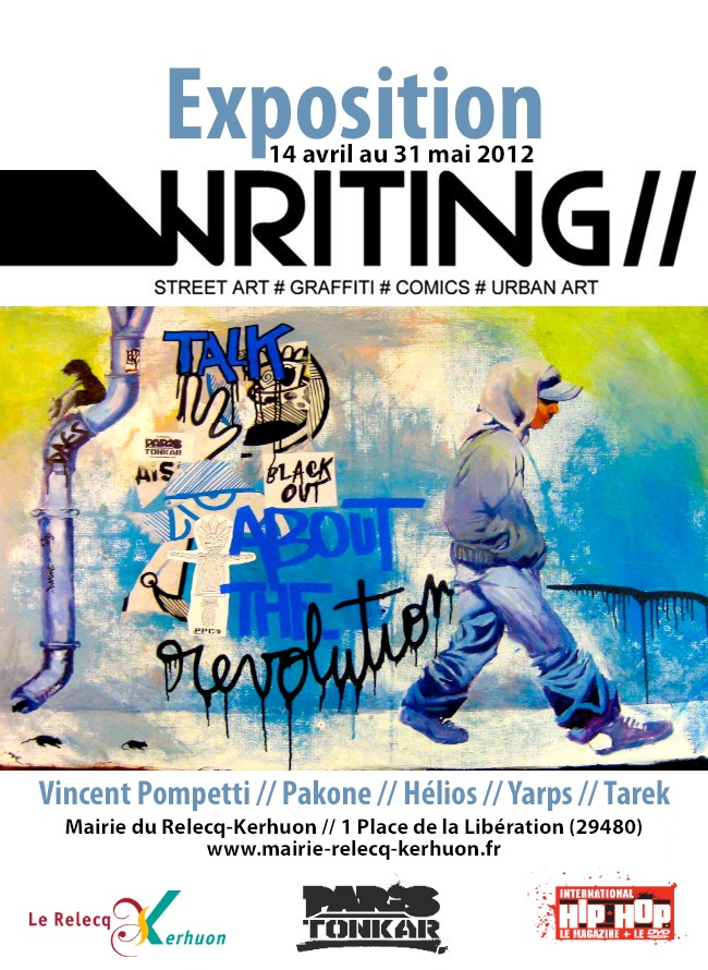 Affiche expo writing