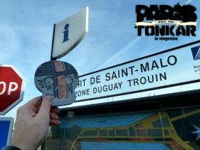 Collage à Saint Malo // Skull by Tarek