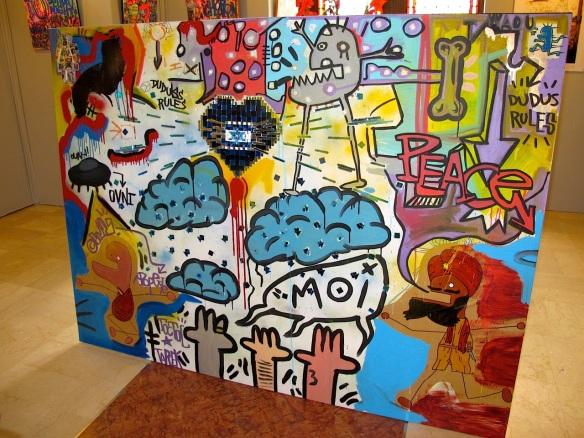 Tarek-Toctoc painting