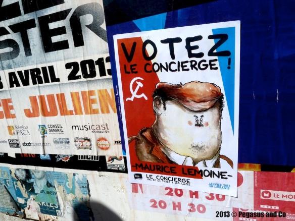 Collage à Marseille