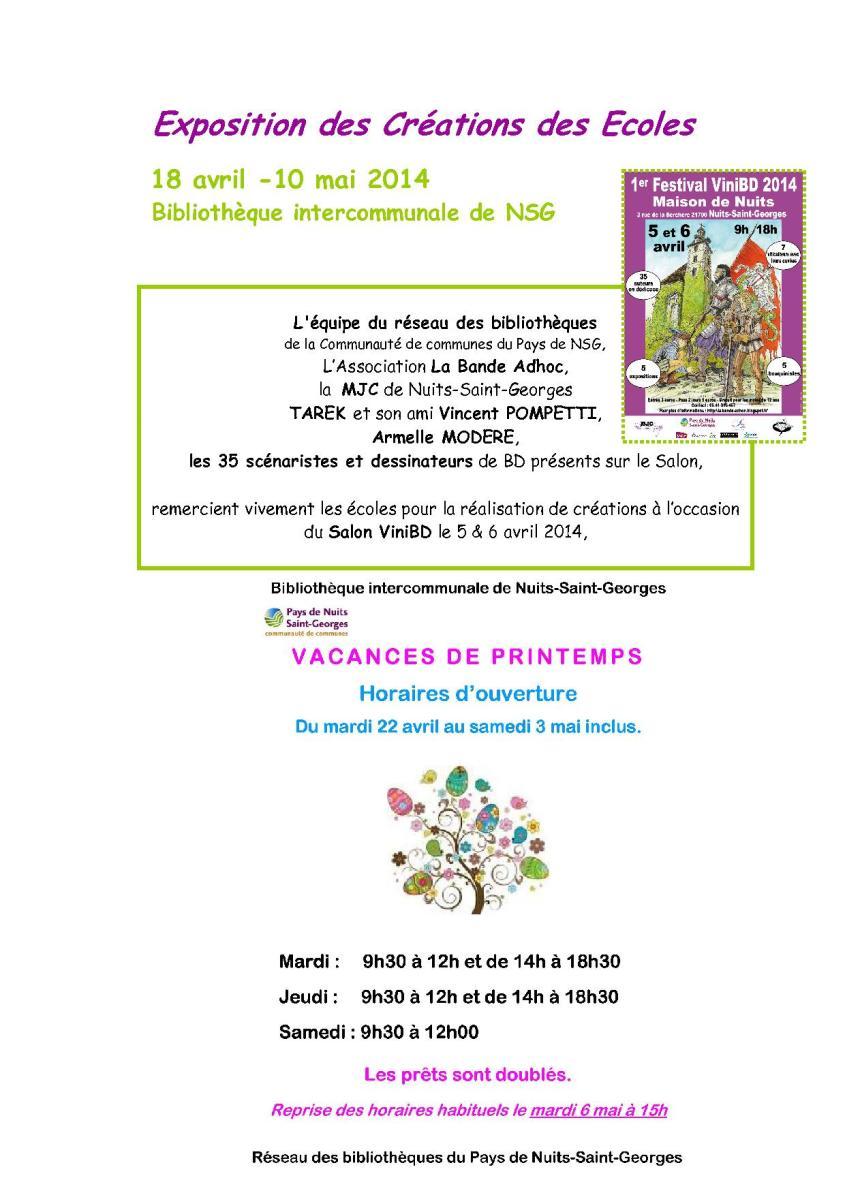 Ecoles expo BD