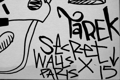 Secret walls Paris