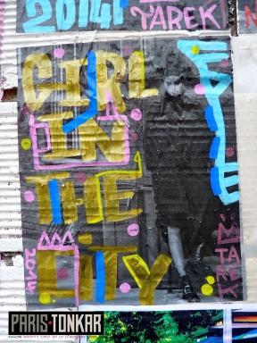 Collage à Saint-Ouen