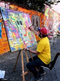Live painting de Tarek