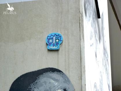 Collage au Lavomatik à Paris