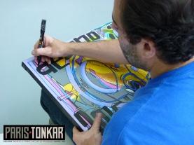 Live painting à la galerie Knafo