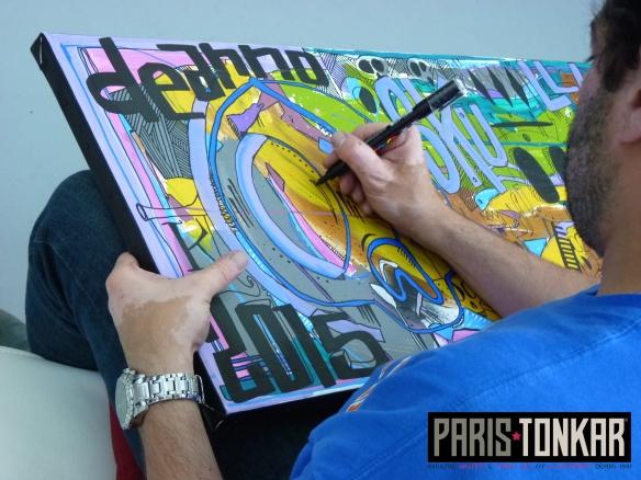 Tarek à la galerie Knafo