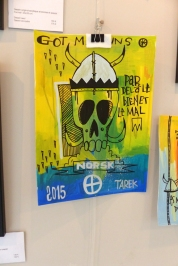 Tarek à la galerie L'oeil ouvert