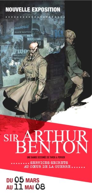 Sir Arthur Benton au Mémorial de Caen