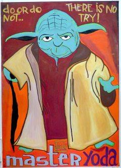 Master Yoda à la Galerie Carole Kvasnevski