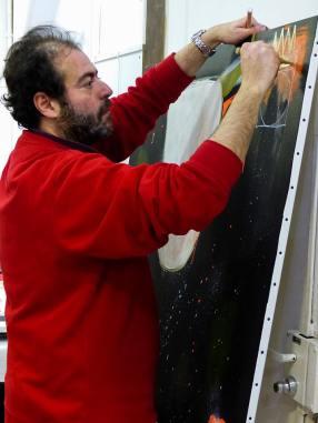 Live painting à la galerie Kvasnevski