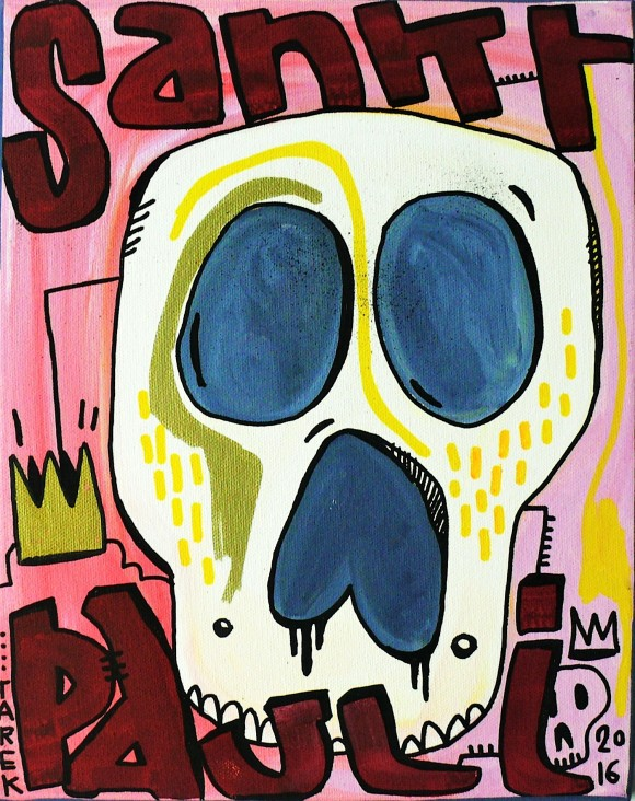 Tarek, St Pauli, Acryl auf Leinwand, 24 x 30 cm, 2016