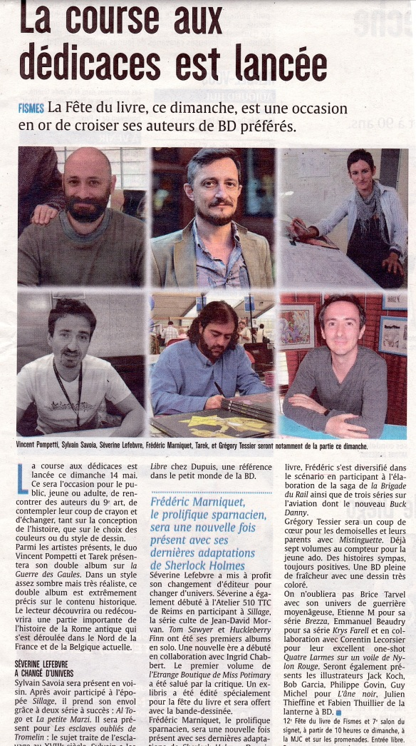 Article dans l'Union (mai 2017)