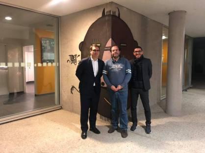 Tarek et le maire du 17e à Paris