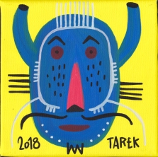 Masque bleu by Tarek
