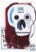 Dessin white skull