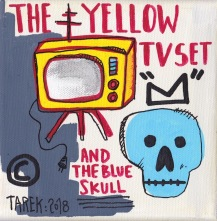 Yellow TV set