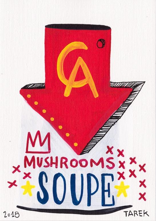 dessin soup musroom