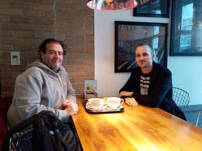 Tarek et Andrew Benteau