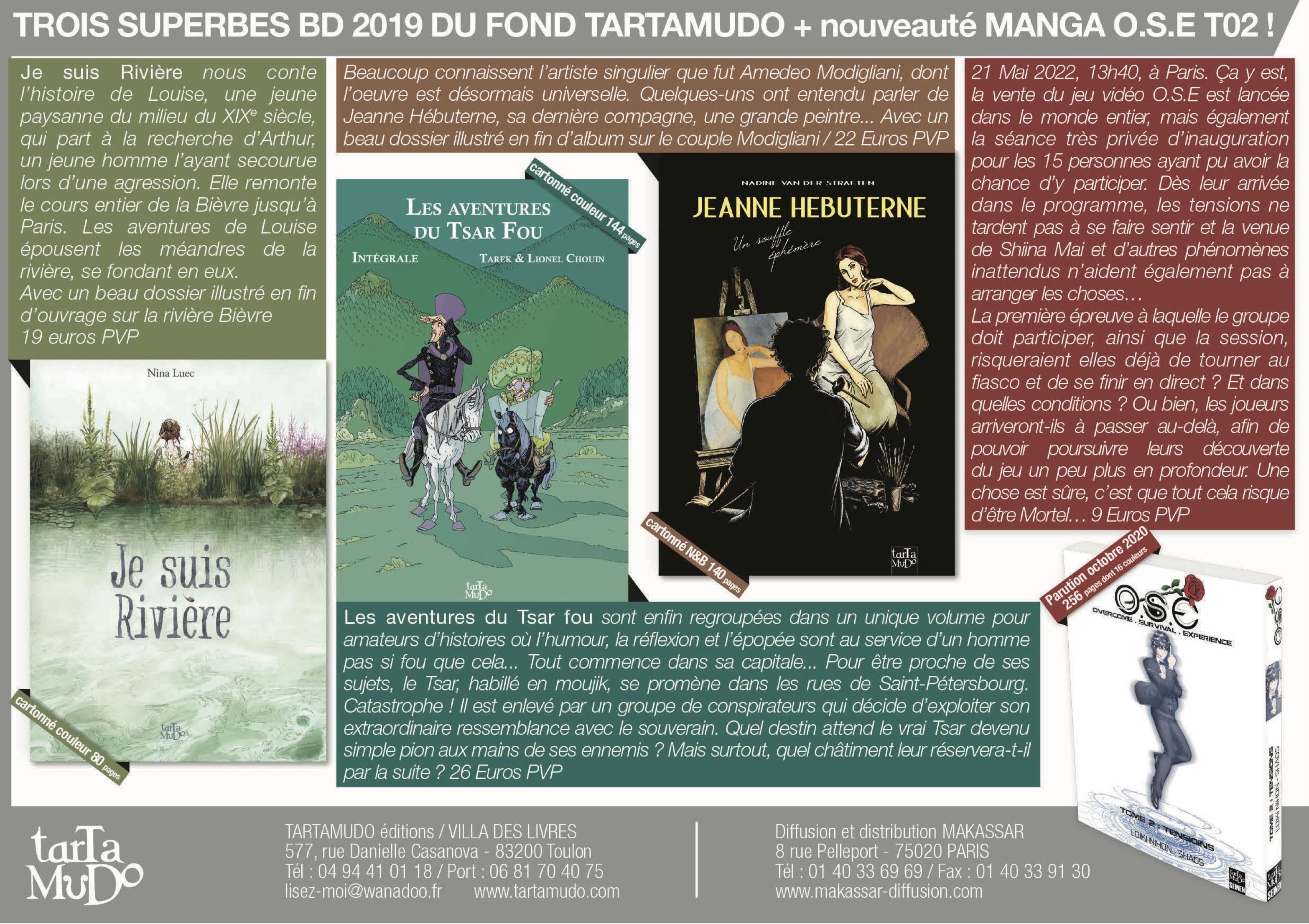# # 1 BD ANNONCE PUB 4 BD TARTAMUDO BIBLIOTECA - JUILLET 2020 Page 11 DERRIERE LA COLLINE