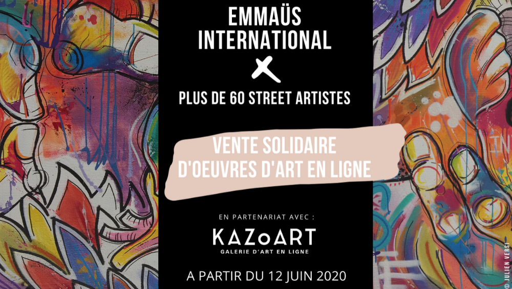 vente-solidaire-street-art-kazoart-emmaus-international